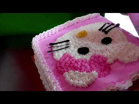 Hello Kitty --cara membuat kue karakter hello kitty simpel