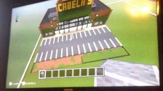 Minecraft  tour: Cabela's, landis, chipotle, Dick's, Gamestop , key bank, ross,etc