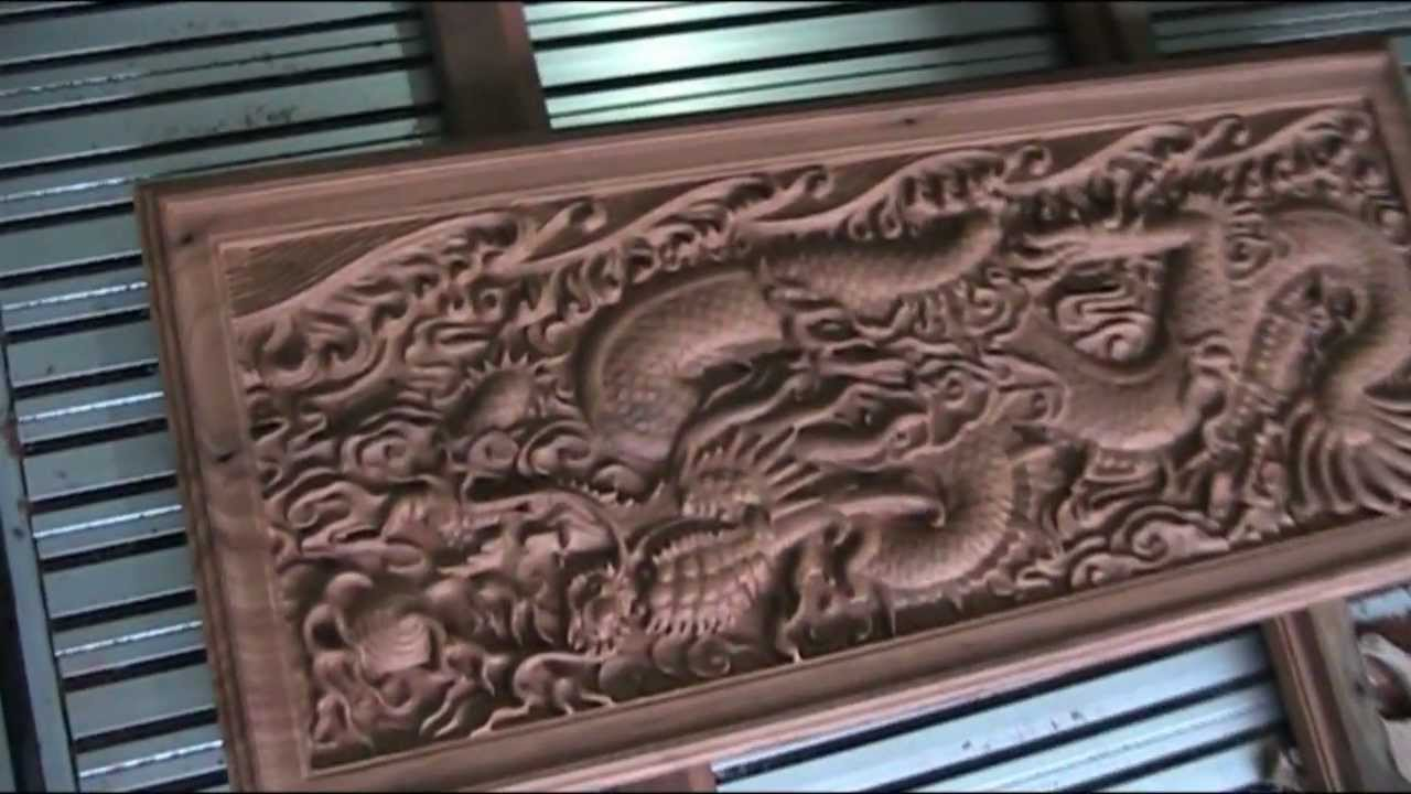 Thailand Cnc Engraving On Hard Wood Material Youtube
