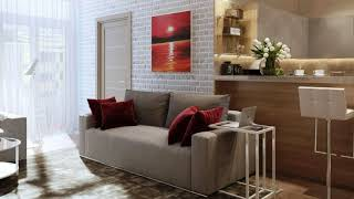 INTERIOR design of a small studio apartment, decor and interior LOFT style