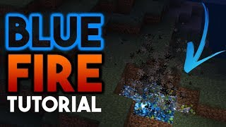 BLUE FIRE without Mods or Addons - Minecraft PE / BE 1.9 Tutorial