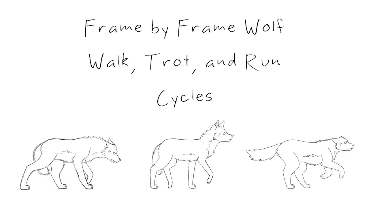 Frame by Frame Wolf Walk, Trot, and Run Cycles - YouTube