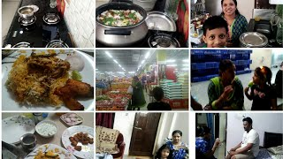 Sunday vlog/Chicken biryani/tea time with hubby/fun/shopping with family/indianmom busy lifestyle