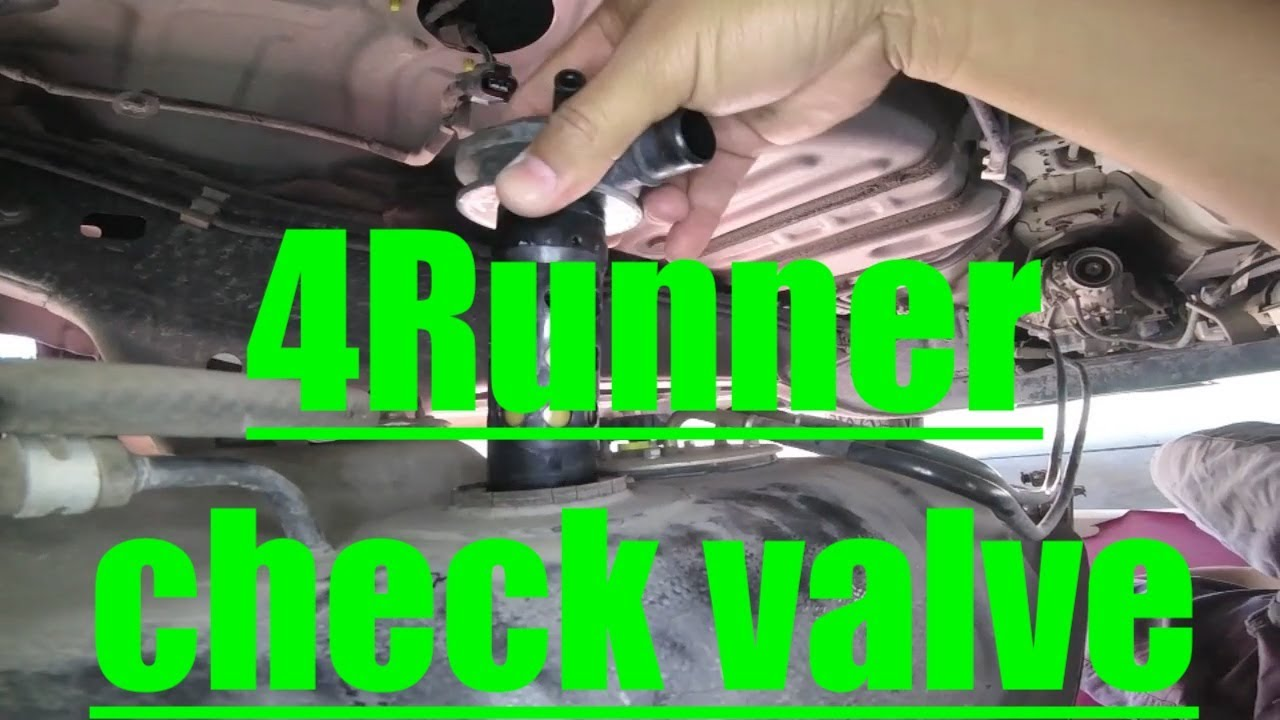 small resolution of gas fumes p0440 p0446 fuel check valve replacement toyota 4runner fix it angel