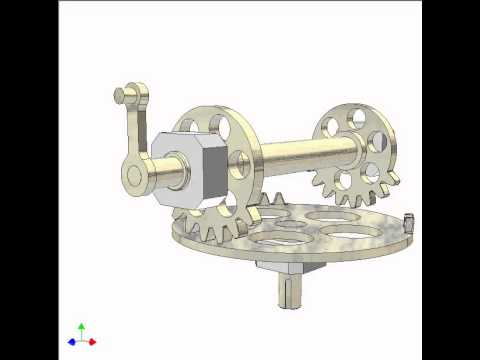 Mechanism For Converting Continuous Rotation Into 90 Deg