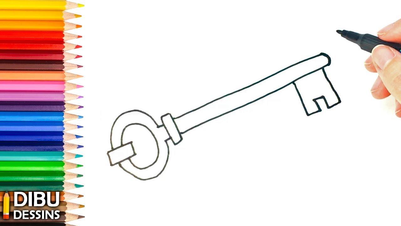 Comment dessiner une clé dessin de clé