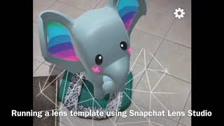 Snapchat Lens Studio Template running on Snapchat app