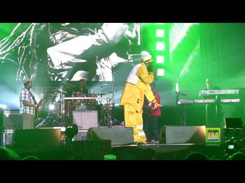 Capleton blazing at Bob Marley 70th Birthday concert