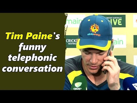 Watch: Tim Paine's hilarious telephonic conversation during press-conference at SCG