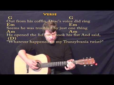 Monster Mash (Bobby Pickett) Strum Guitar Cover Lesson with Lyrics/Chords