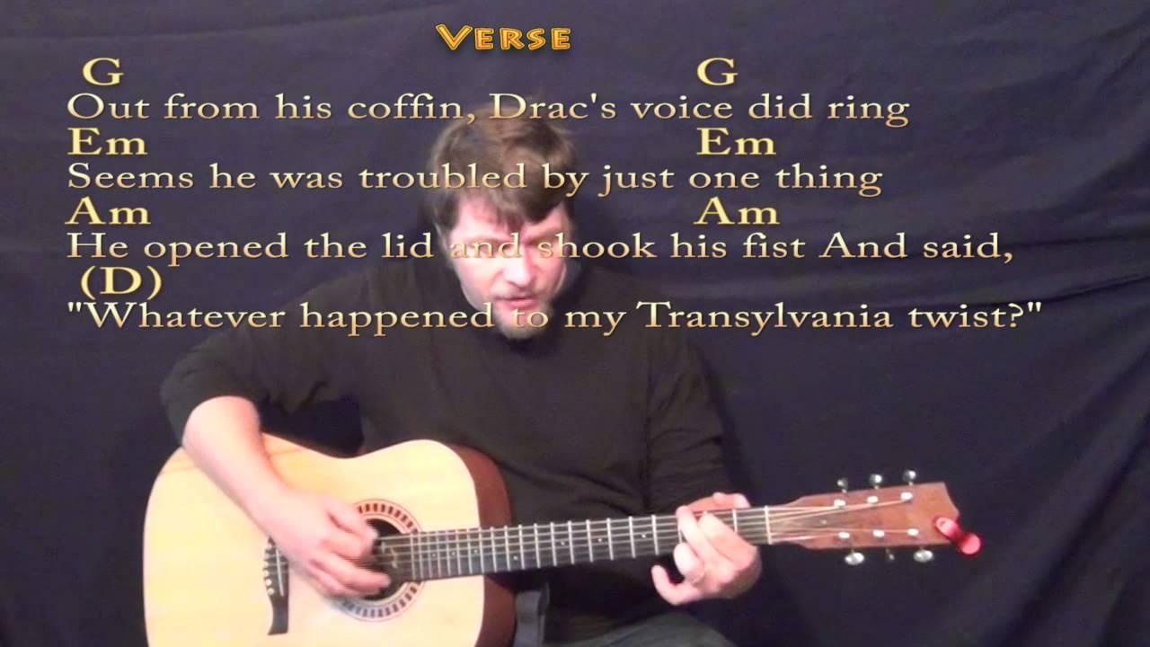 Monster Mash Bobby Pickett Strum Guitar Cover Lesson With Lyrics