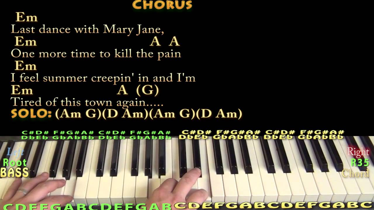 Mary janes last dance tom petty piano cover lesson with chords mary janes last dance tom petty piano cover lesson with chordslyrics hexwebz Image collections
