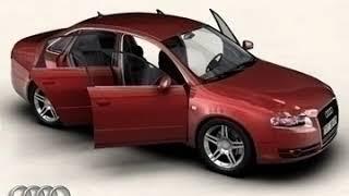 3D Model of Audi A4 2005 Review