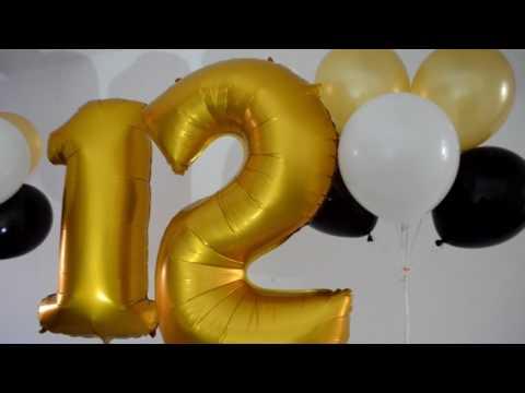 цифры и гелиевые шары