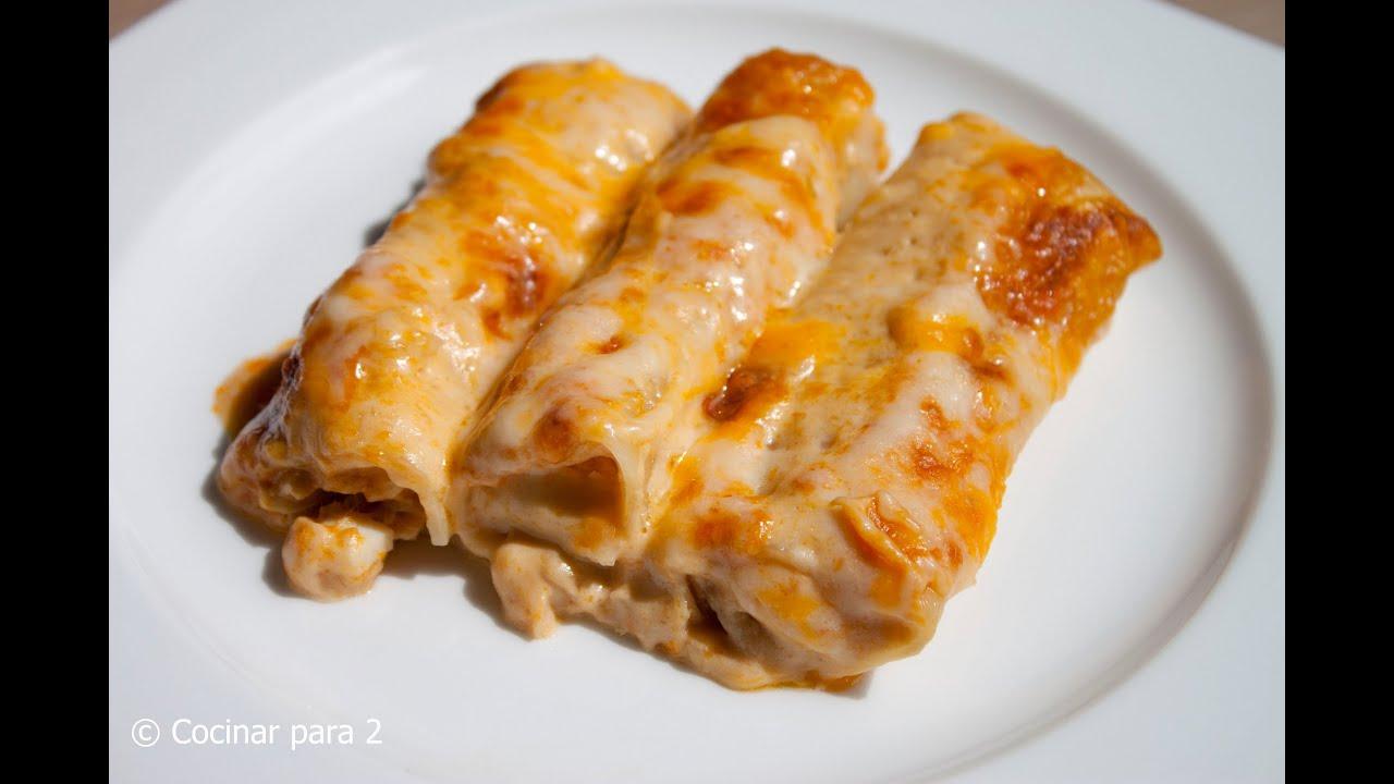 Canelones de at n muy f ciles con crema de mariscos knorr for Canelones de pescado y marisco