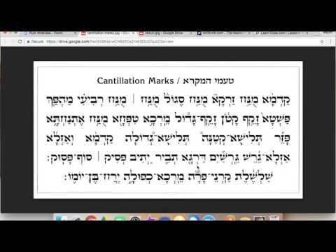 Hear the Trope / Cantillation Marks / Ta'amim (Ashkenazi Melody)