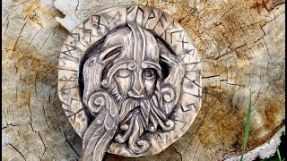 Woodcarving, utskjæring. Óðinn and Runes.lesson of carving. резьба по дереву.  ōđanaz ,Wōđinaz
