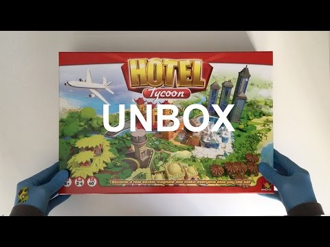 Hotel Tycoon Board Game 2017 ASMR Unbox