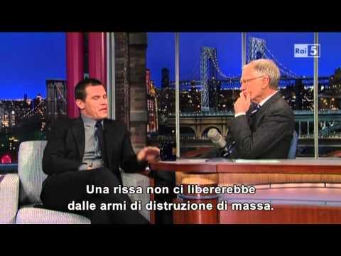 Josh Brolin @ David Letterman Show 8/01/13 SUB ITA