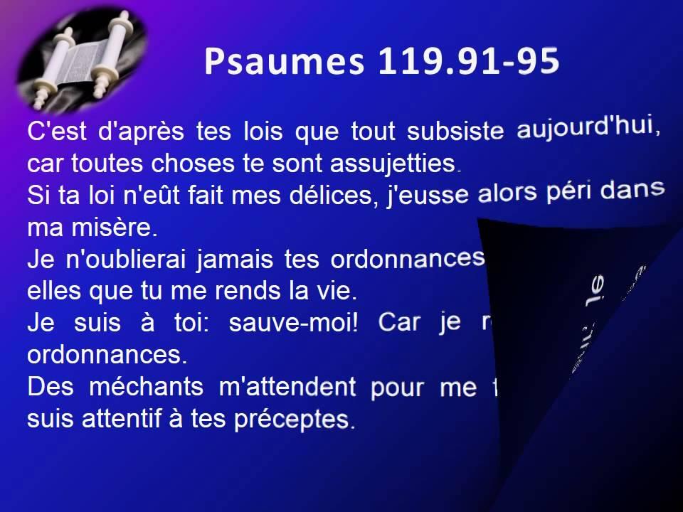 les psaumes de la bible