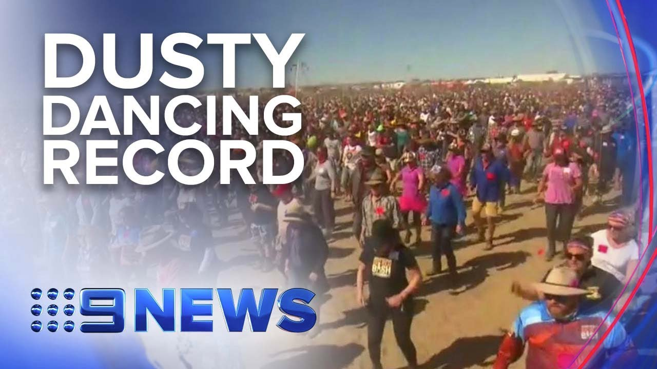 Big Red Bash breaks world record for most Nutbush dancers | Nine News Australia