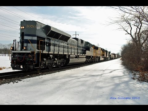 HD An epic day around Harrisburg EX UP tunnel Motor and Wabash 1070 running LHF 2 4 15