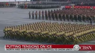 North Korea parades military and weapons ahead of Olympic Opening Ceremony