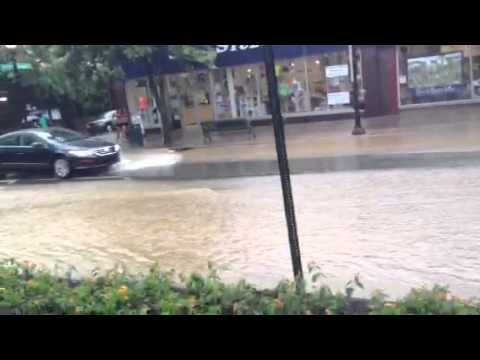 INCREDIBLE Flash Flooding in State College, PA on 6/27/13