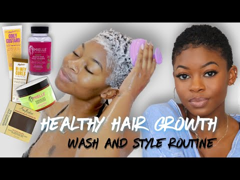 TWA Wash Day Routine For Fast Healthy Hair Growth  EP1