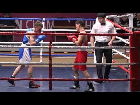 Бокс. Турнир Шопокова-2019. 52 кг 1\8 Нуржан Сериков (Казахстан)-Александр Бутурин (Беларусь)