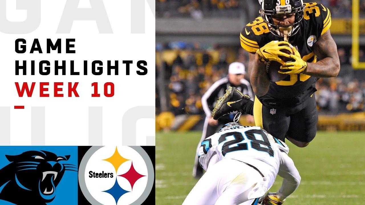 Panthers Vs Steelers Week 10 Highlights