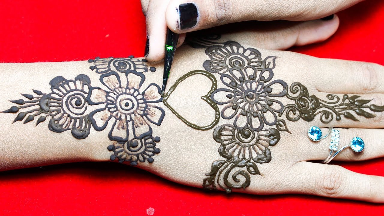 Cute Henna Designs: Cute Heart + Arabic Mehndi Henna Designs For Hands