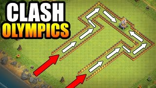 CLASH OLYMPICS!! 🔥 ULTIMATE DUEL LANE RACE!! 🔥 Clash Of Clans