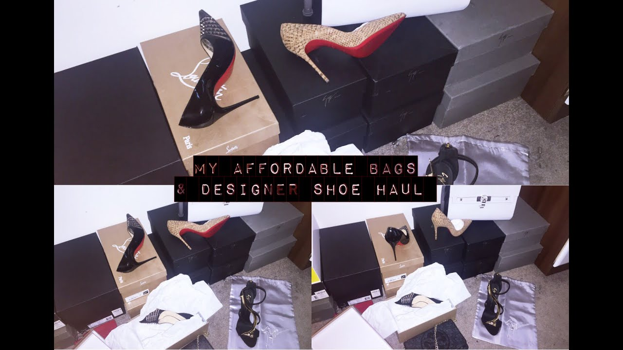 6b39b399a5abe My Affordable Bag & designer Shoe Haul   Giuseppe Zanotti   Christian  Louboutin and many more
