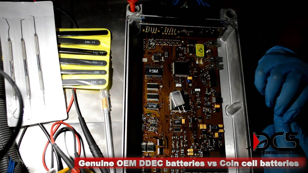 The ECM Lab - OEM Detroit Diesel DDEC IV ECM internal batteries vs Coin  cell batteries