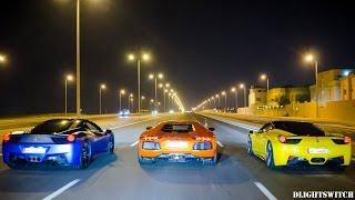 Ferraris & Lamborghinis go for a Night Cruise!