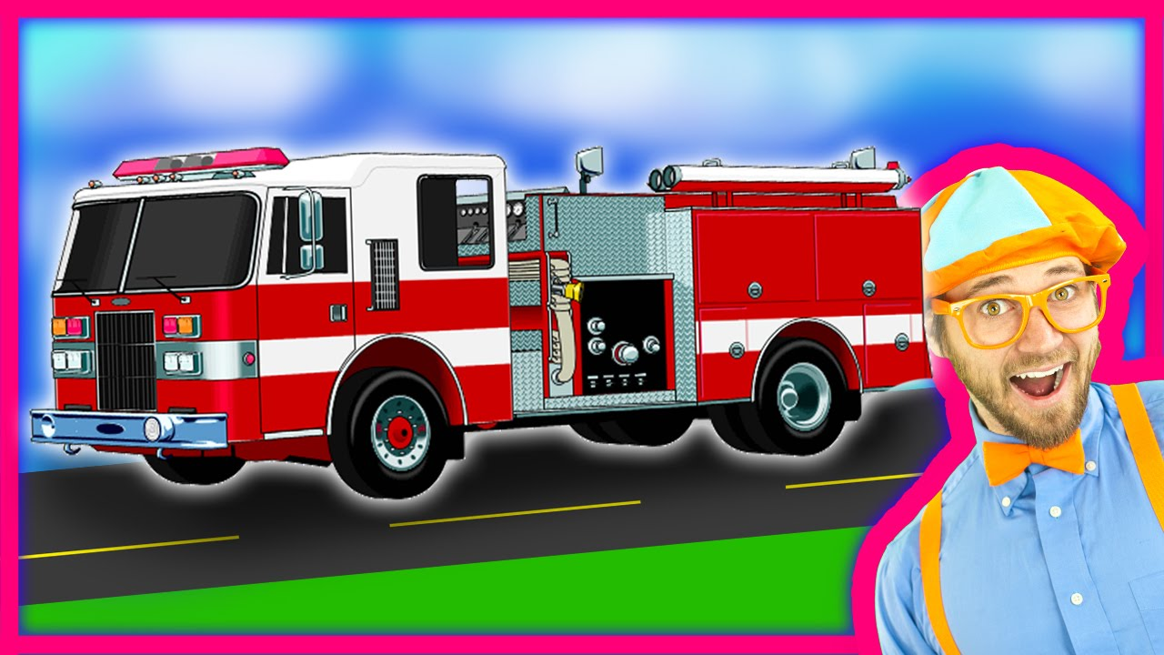blippi fire trucks for children fire engines for kids and fire truck tour youtube. Black Bedroom Furniture Sets. Home Design Ideas