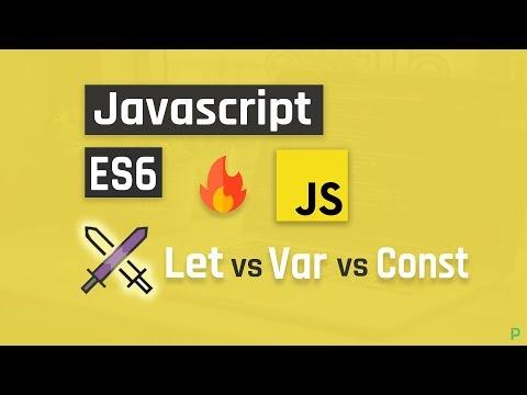 Javascript ES6 Let vs Var vs Const thumbnail