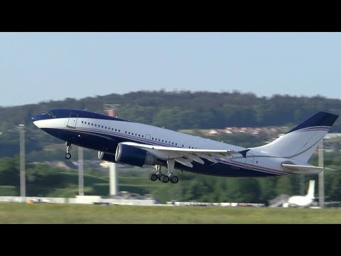Al-Atheer - Private Airbus A310 hot evening takeoff at Zurich Airport