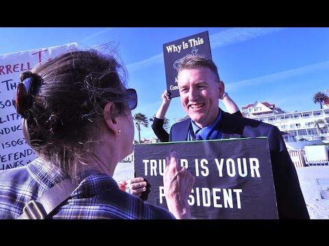 RNC protesters vs. Trump fans at Hotel Del