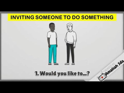 INVITING SOMEONE TO DO SOMETHING / ENGLISH LEARNING VIDEO