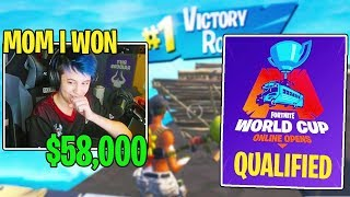Sceptic Calls His *MOM* to Tell Her He Won $58,000 and QUALIFIED for the Fortnite World Cup!!