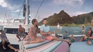 Catamaran Jam Session off the Coast of Kauai - 360 Video (#LetHawaiiHappen with Kepa Kruse)