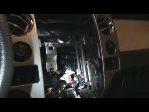F 150 Heater Blend Door Motor Replacement Loud Clicking Noise Remove Center Console And Stereo Youtube