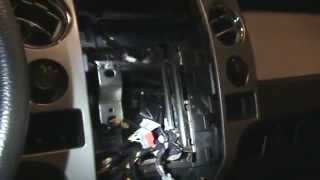 F-150 Heater Blend Door Motor Replacement - Loud Clicking Noise - Remove Center Console and Stereo