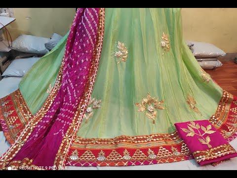 Super Attractive Fully Stitched Lehenga With Bandhani Print U0026 Gota Patti Work   Lehenga Choli (2021)