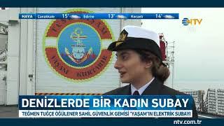 Denizlerde bir kadın subay