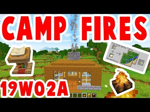 Camp Fires And Book Stands : Minecraft 1.14 : SnapShot 19W02A Review