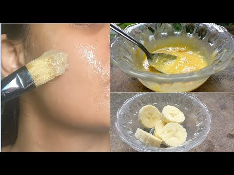 Banana Face Mask For Dry Skin, Glowing Skin, Anti Aging, Winter Skin Care Routine Mask