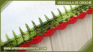 Bico de Crochê Leques – Aprendendo Crochê